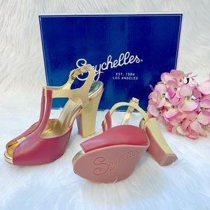 Seychelles Rosemary Multi T-Strap Block Heels!